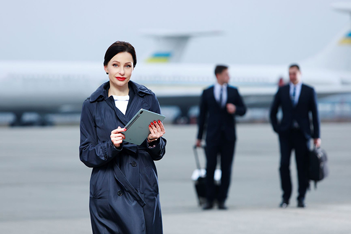 Зустріч пасажира і посадка у літак